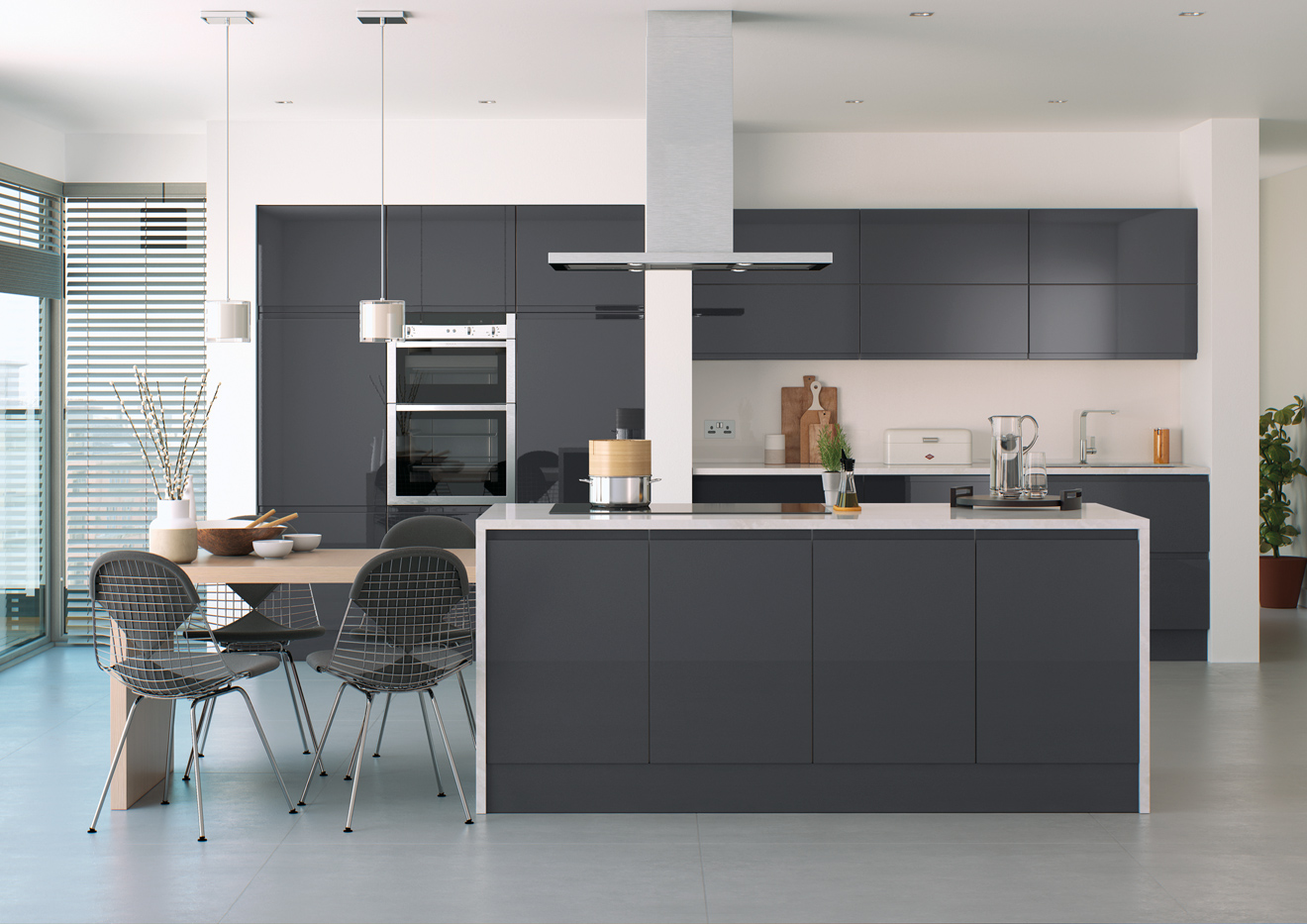 Lucente High Gloss Kitchens Crown House