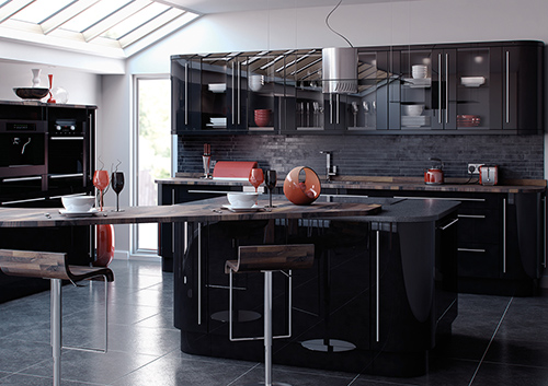 Reflections Kitchen Black